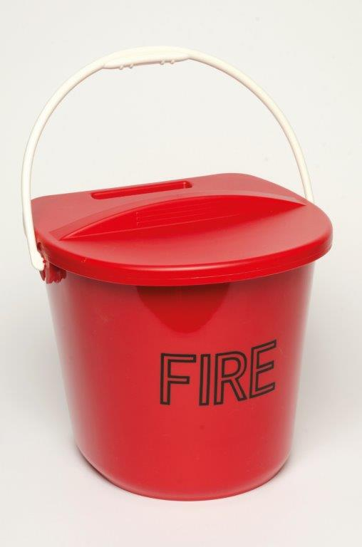 PLASTIC FIRE BUCKET&LID