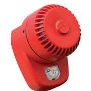 RoLP LX Wall Sounder Beacon, Red Body, White Flash
