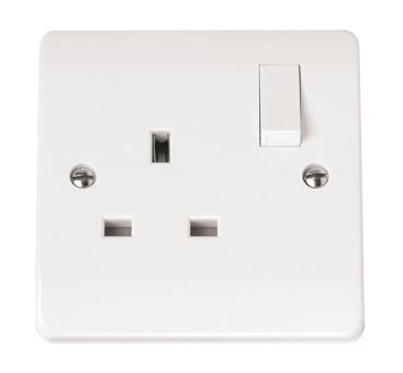 13A 1 GANG DP SW SOCKET
