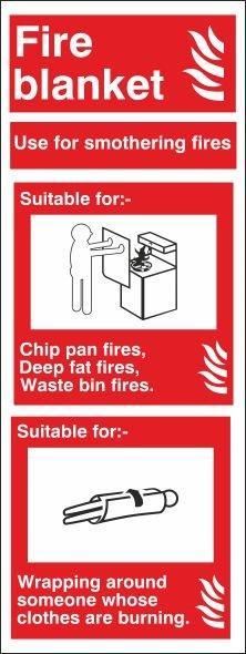 FIRE BLANKET VERTICAL SIGN
