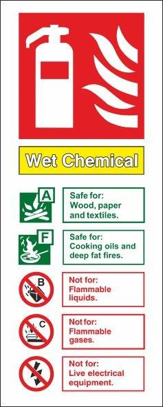 WET CHEMICAL PVC VERTICAL SIGN