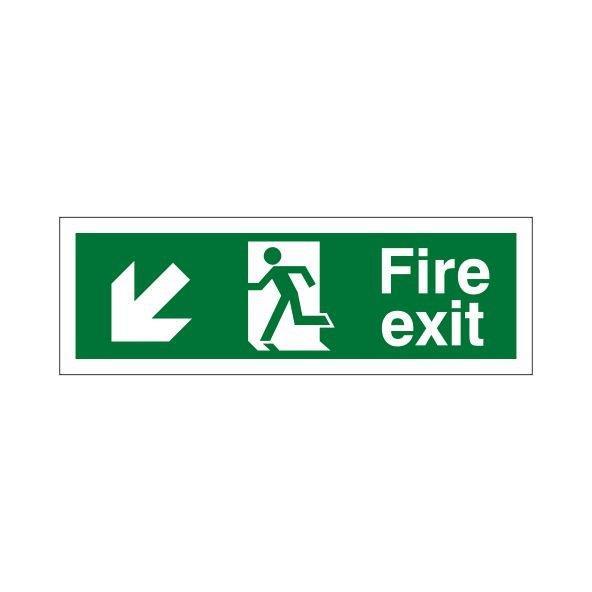 FIRE EXIT DOWN LEFT