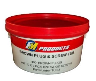 BROWN PLUG TUB